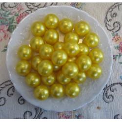 Perle d'huile de bain nacrées senteur Chèvrefeuille de couleur Jaune