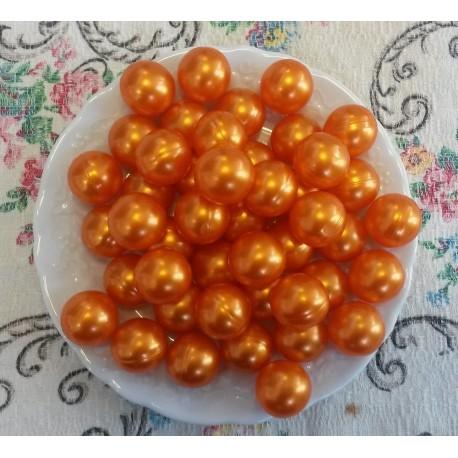 Perles d'huile de bain nacrées senteur MONOÏ couleur Orange