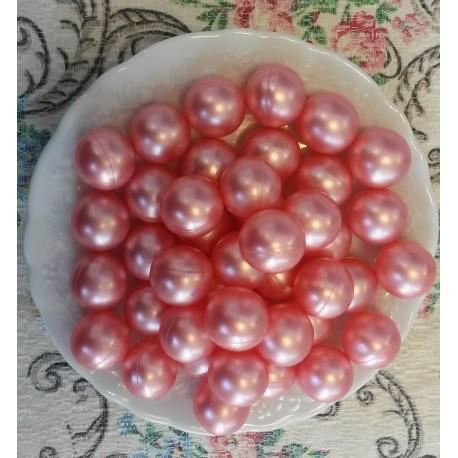 Perles d'huile de bain nacrées senteur ROSE couleur ROSE