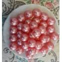 Perle d'huile de bain nacrées senteur ROSE couleur ROSE
