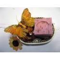 Savon de Marseille parfum Rose avec pétales de roses broyées
