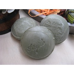 Savon de Marseille en savonnettes rondes 3 x 150 gr Argile Verte