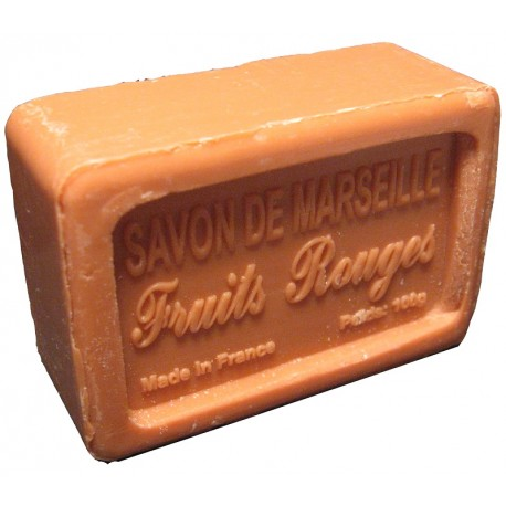 Savon de Marseille parfum Fruits Rouges