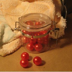 Bocal de Perles de bain Fraise