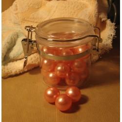 Bocal de Perles de bain Rose
