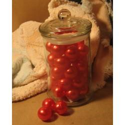 Bonbonnière de Perles de bain Fraise