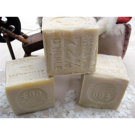 Savon de marseille v ritable cube de 400 g blanc fabriqu - Veritable savon de marseille ...
