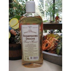 Shampoing Douche parfumé à base de véritable savon de Marseille Flacon 500 ml