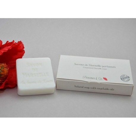 Savon de Marseille 2x50 gr emballé dans magnifique boîte signée Provence & Co