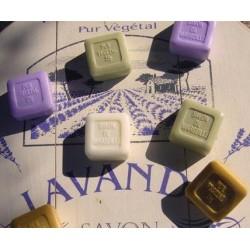 Savons de Marseille Parfumés cubes 25 gr., 8Parfums disponibles