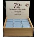 Coffret en bois vide pour présenter 24 savonnettes rectangulaires 100 gr.