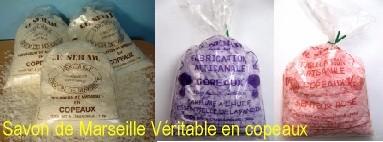 Savon Marseille véritable en paillettes