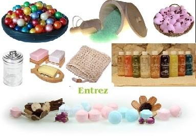 Produits et accessoires pour le bain