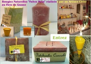 Bougies artisanales naturelles aux huiles essentielles